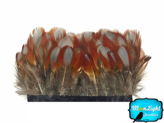 1 yard natural Temminck Tragopan breast body feather trim