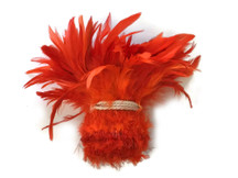 Tangerine orange soft strung feather strip for sewing