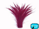 5 Pieces - Burgundy Bleached Peacock Swords Cut Feathers