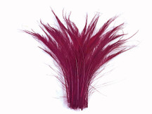 Maroon Dyed Cut Peacock Feathers Wispy for decorations, crafts, weddings.