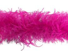 1 Piece - HOT PINK Ostrich Feather Boa 3 Ply