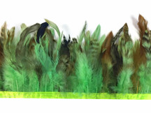 1 yard - LIME GREEN Chinchilla Rooster Saddle Feathers Trim
