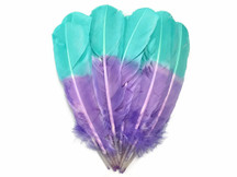 1/4 Lb - Lavender Mint Two Tone Turkey Round Tom Wing Quill Secondary Wholesale Feathers (Bulk)