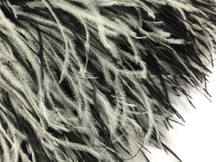 6 Inch Strip - Black & White Ostrich Fringe Trim Feather