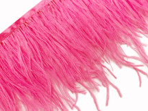 6 Inch Strip - Candy Pink Ostrich Fringe Trim Feather