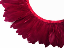 1 Yard - Burgundy Goose Nagoire And Satinettes Feather Trim