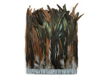 """1 Yard - 10-12"""" Gray Dyed Over Natural Coque Tails Long Feather Trim (Bulk)"""