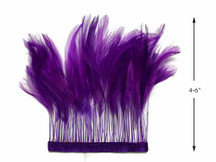 1 Yard - Purple Stripped Rooster Hackle Wholesale Feather Trim (Bulk)