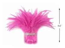 1 Yard - Candy Pink Strung Chinese Rooster Saddle Wholesale Feathers (Bulk)