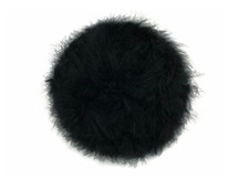 2 Yards - Black Turkey Medium Weight Marabou Feather Boa 25 Gram