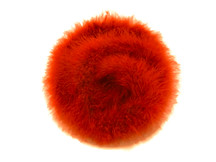 2 Yards - Orange Turkey Medium Weight Marabou Feather Boa 25 Gram