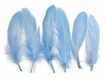 1 Pack - Light Blue Goose Satinettes Loose Feathers 0.3 Oz.