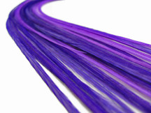 10 Pieces - Solid Purple Thin Long Rooster Hackle Hair Extension Feathers