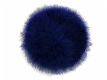2 Yards - Navy Blue Turkey Medium Weight Marabou Feather Boa 25 Gram