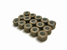 10 Pieces - Brown Silicone Micro Ring Beads For Feather Hair Extensions