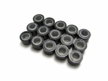 10 Pieces - Black Silicone Micro Ring Beads For Feather Hair Extensions