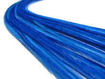 10 Pieces - Solid Royal Blue Thin Long Rooster Hair Extension Feathers