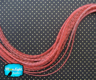 6 Pieces - Xl Unique Pink Grizzly Thin Rooster Hair Extension Feathers