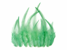 1 Dozen - Short Solid Aqua Mint Rooster Hair Extension Feathers