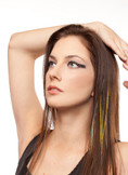 Manhattan Style Feather Extension Clips For Hair