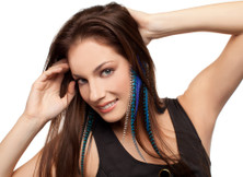 Mediterranean Feather Extension Clips For Hair