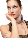 Natasha - Collection Single Feather Earring