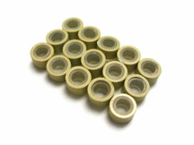 10 Pieces - Beige Silicone Micro Ring Beads For Feather Hair Extensions