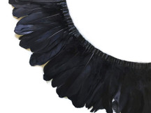 1 Yard - Black Goose Nagoire And Satinettes Feather Trim
