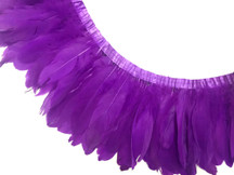1 YARD - PURPLE Goose Nagoire and Satinettes Feather Trim