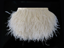 1 Yard - Ivory Ostrich Fringe Trim Wholesale Feather (Bulk)