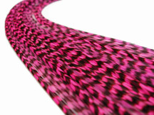 1 Piece - Hot Pink Thin Long Grizzly Rooster Hair Extension Feather & Silicon Bead