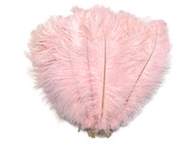 "1/2 Lb - 14-17"" Baby Pink Ostrich Large Drab Wholesale Feathers (Bulk)"