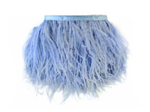 1 Yard - Light Blue Ostrich Fringe Trim Wholesale Feather (Bulk)