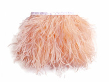 1 Yard - Champagne Ostrich Fringe Trim Wholesale Feather (Bulk)