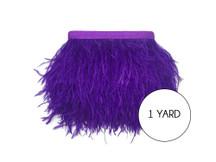 1 Yard - Purple Ostrich Fringe Trim Wholesale Feather (Bulk)