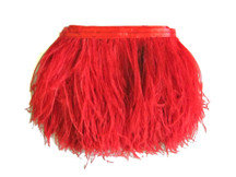 1 Yard - Red Ostrich Fringe Trim Wholesale Feather (Bulk)