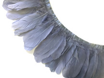 1 Yard - Grey Goose Nagoire And Satinettes Feather Trim