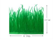 6 Inch Strip - Kelly Green Ostrich Fringe Trim Feather