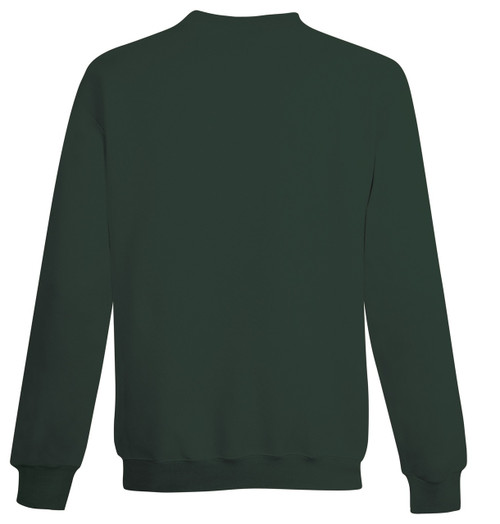 Dark Green Back Champion S690 Youth Powerblend Eco Fleece Crew | Athleticwear.ca