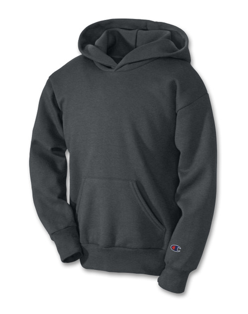 Charcoal Heather Champion S790 Youth Powerblend Eco Fleece Hoodie   Athleticwear.ca