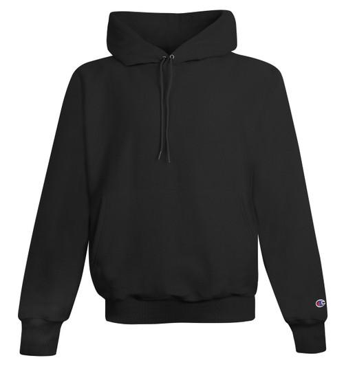 Black Front Champion S101 Reverse Weave Fleece Hoodie | Athleticwear.ca