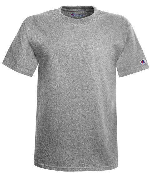 Light Steel Front Champion T425 Short Sleeve Cotton Tee | Athleticwear.ca