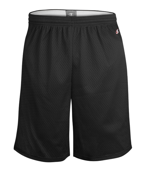 "Black Front Champion 9"" 8731 Mesh Shorts 