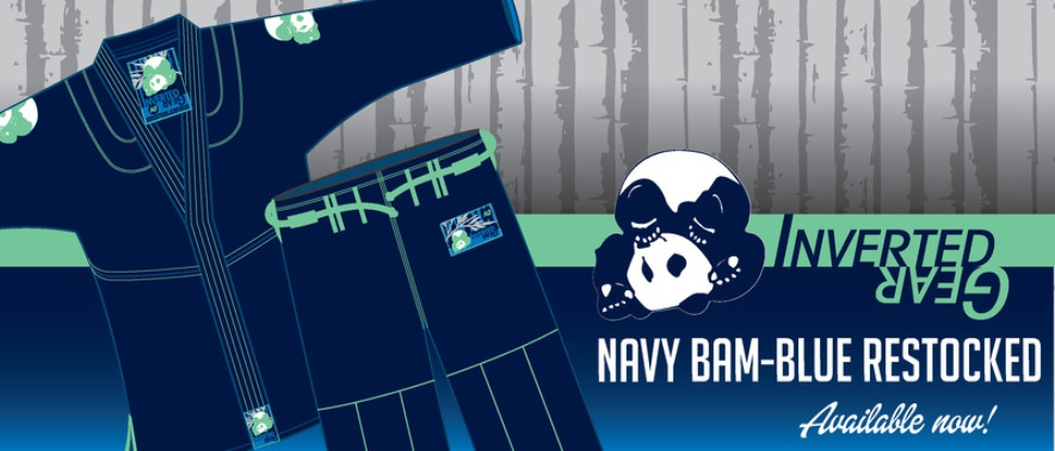 Inverted Gear Navy Blue Gi back in stock.  Available from The Jiu Jitsu Shop