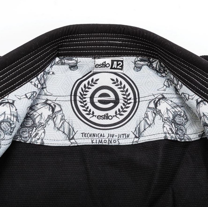 Tatami Estilo 5.0 Black Gi with Inner rashguard art