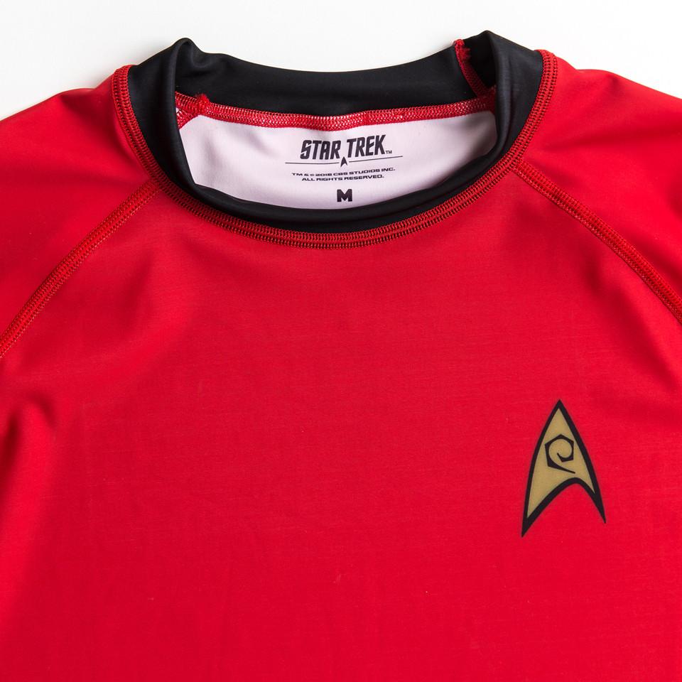 Officially licensed star trek apparel .  Classic Star trek red uniform.  www.thejiujitsushop.com  The Jiu Jitsu Shop