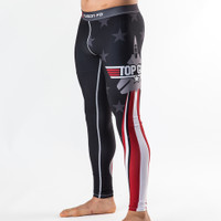 Fusion FG Classic Spats in Black are now available at www.thejiujitsushop.com.  Beautiful stars and stripes spats that are sure to turn heads.  Also available in Navy  Enjoy Free Shipping on all Top Gun Apparel from The Jiu Jitsu Shop today!