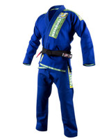 Hayabusa Goorudo 2 Gold Weave Jiu Jitsu Gi now available at www.thejiujitsushop.com.  New Goorudo gi in Blue with Green and White accents  Enjoy Free Shipping from The Jiu Jitsu Shop.