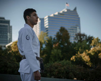 Pedro Silva The Jiu Jitsu Shop Minimalist Kimono Photoshoot.  Available at www.thejiujitsushop.com  Profile picture  TJJS White Minimalist Kimono.  Minimalist Gi from top quality manufacturers.