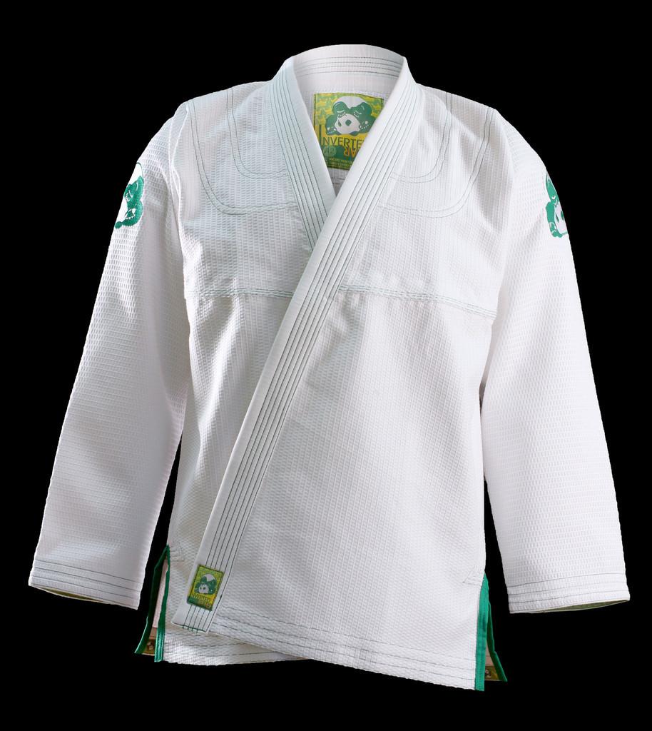 inverted gear white gold weave panda gi the jiu jitsu shop